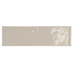 Carrelage uni brillant gris perle 6.5x20cm COUNTRY GREY PEARL 21539 0.5m² Equipe