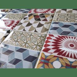 Carrelage METRO décor ciment PATCHWORK Colours 7.5x15 cm 20922 - 0.5m²