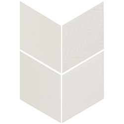 Carrelage losange diamant 14x24cm blanc cassé 21294 RHOMBUS RELIEF MAT - 1m² Equipe