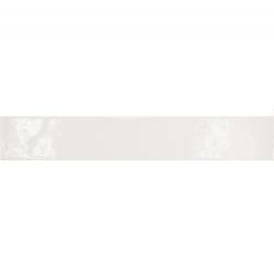 Carrelage uni brillant blanc 6.5x40cm COUNTRY BLANCO LONG 13250 1m²