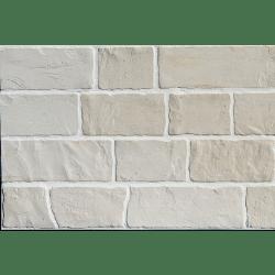 Parement mural réaliste cérame style pierre 9x60 cm MURETTO NATURAL Beige clair - 0.76m² Exacer