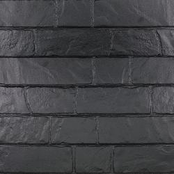 Parement mural réaliste cérame style pierre 9x60 cm MURETTO Noir - 0.76m² Exacer
