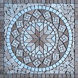 Rosace Travertin Noce / Travertin Beige / Afyon white 61x61 cm - R002