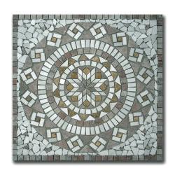 Rosace Travertin Arizona / Travertin Jaune / Marbre Beige 80x80 cm - R001
