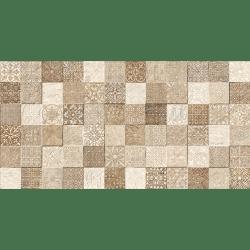 Faience style ciment mosaique beige décoré Deco Lys Arena 32x62.5 cm - 1m² GayaFores