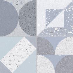 Carrelage style ciment terrazzo FUSION BLUE 33x33 cm R9 - 1.32m²