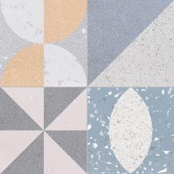Carrelage style ciment terrazzo FUSION MIX 33x33 cm R9 - 1.32m²