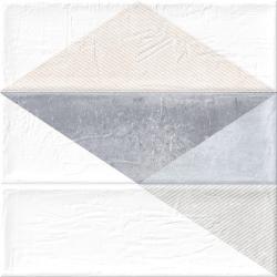 Faience murale triangles BRICK GREIGE 11x33 cm - 1.13m²