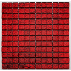 Mosaique salle bain Glasmosaik rouge 2.3x2.3 cm - 30x30 cm - unité