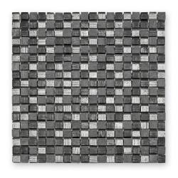 Mosaique mix de gris et argent Fineline GL-12007 1.5x1.5 cm - 29.8x29.8 - unité