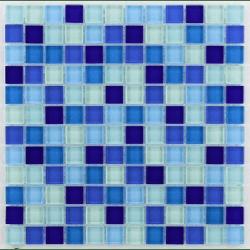 Glasmosaik bleu 2.3x2.3 cm - 30x30 - unité