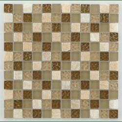 Mosaique salle de bain marron Glasmosaik tuscany natural 2.3x2.3 cm - 30x30 - unité Barwolf