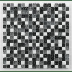 Glasnaturstein tuscany silver grey 1.5x1.5 cm - 30x30 - unité