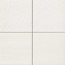 Carrelage style ciment faience précieuse effet metal GLINT BLANCO 44x44 cm - 1.37m²