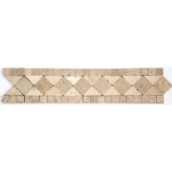 Frise pierre Travertin Noce / Travertin Beige GM103 33.3x7 cm - unité