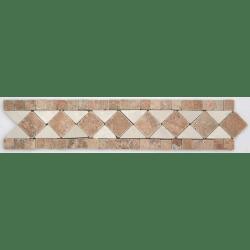 Frise pierre Travertin Arizona / Travertin Beige GM106 33.3x7 cm - unité