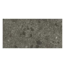Carrelage satiné style pierre rectifié 40x80cm HANNOVER BLACK NATURAL R10 - 1.28m²