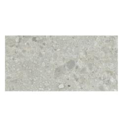 Carrelage satiné style pierre rectifié 40x80cm HANNOVER STEEL NATURAL R10 - 1.28m² Baldocer