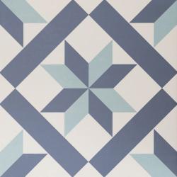Carrelage étoile bleue 33x33 cm HANOI STAR BLUE - 1m²