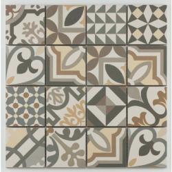 Mosaique grès cérame patchwork grey mosaïque 31.8x31.8cm KEG-14070 - unité