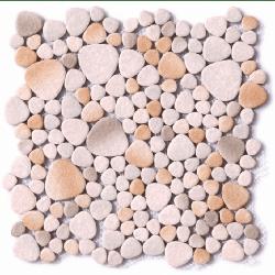 Mosaique émaillée beige gris 30x30 cm - 0.74m²