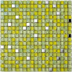 Mosaique Lagos Lima - verre métal 30x30 - boite de 0.72m²