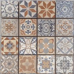 Malla Antic - Mosaique grès cérame 29x29cm - imitation ciment - unité