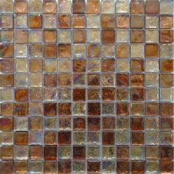 Malla Boreal Ambar - Mosaique en verre 30x30cm - unité