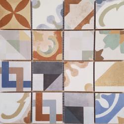 Malla Cartago - Mosaique grès 32x32cm - imitation ciment - unité