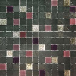 Malla Congo Lila - Mosaique marbre et verre 30x30cm - unité