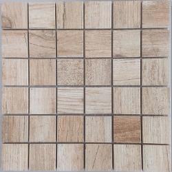 Malla Forest Beige - Mosaique imitation bois - grès cérame 29x29cm - unité