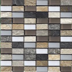 Mosaique Malla Myca - verre métal marbre 30x30 - boite de 0.72m²