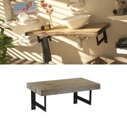 Meuble plateau bois de salle de bain épuré 60 cm MANYARA