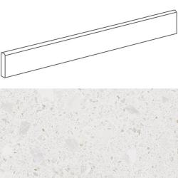 Plinthe style terrazzo granité blanc 9.4x80 cm MISCELA-R Nacar - 12ml