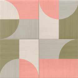 Carrelage pop art deco rose MOON PINK 44x44 cm - 1.37m² Realonda