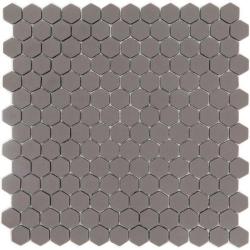 Mosaique Mini tomette hexagonale SADDLE23 25x13mm taupe mat - 0.85m²