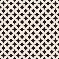 Carrelage pétale noir et blanc ORLY 44x44 cm - 1.37m² Realonda