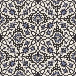 Carrelage azulejos fleurs bleues ORLY DECO 44x44 cm - 1.37m²