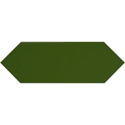 Faience navette crayon vert bouteille brillant 10x30 PICKET BOTTLE GREEN - 1m²