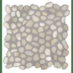 Mosaique galet blanc et beige 30x30 cm - unité