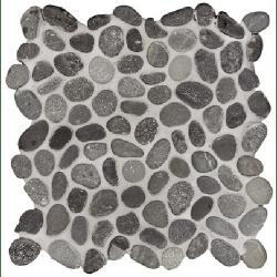Mosaique galet noir 30x30 cm - unité