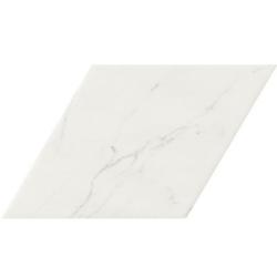 Carrelage losange blanc marbré calacatta 70x40 DIAMOND STATUARIO - 0.98m² Realonda