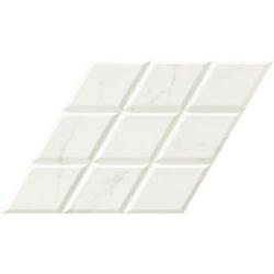 Carrelage losange blanc marbré statuario 70x40 DIAMOND CALACATTA DECO - 0.98m²