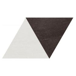 Carrelage losange bicolore géant blanc noir 70x40 DIAMOND CITY TRI WB - 0.98m²