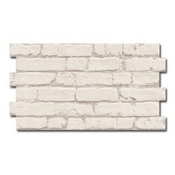 Parement mural cérame style pierre brique 31X56 cm MANHATTAN BLANCO - 1.21m²