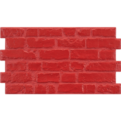 Parement mural cérame style pierre 31X56 cm MANHATTAN Rojo (rouge) - 1.21m²