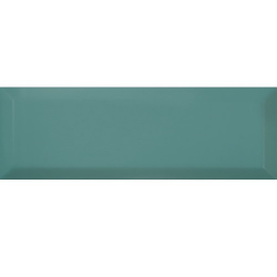 Carrelage Métro biseauté 10x30 cm TURQUESA brillant - 1.02m² Ribesalbes