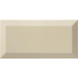Carrelage Métro biseauté almond beige brillant 10x20 cm - 1m²