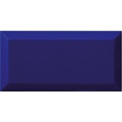 Carrelage Métro biseauté bleu foncé AZUL brillant 10x20 cm - 1m²