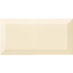 Carrelage Métro biseauté beige brillant 10x20 cm - 1m²